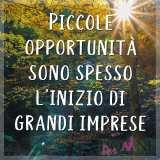 piccole opportunità sono spesso l'inizio di grandi cose